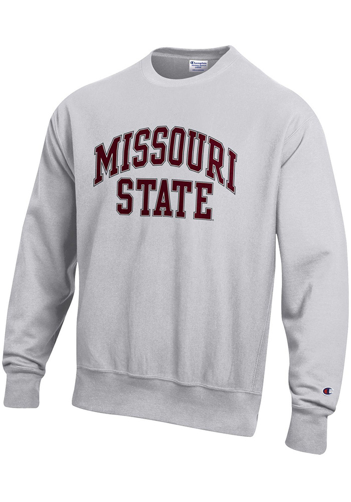 Champion Missouri State Bears Mens Grey Reverse Weave Long Sleeve Crew Sweatshirt - Image 1