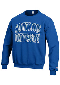 Saint Louis Billikens Champion Arch Mascot Crew Sweatshirt - Blue