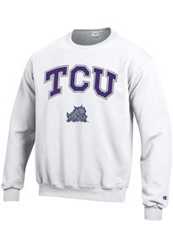 TCU Horned Frogs Champion Arch Mascot Crew Sweatshirt - White