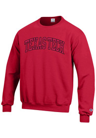 Texas Tech Red Raiders Champion Arch Crew Sweatshirt - Red