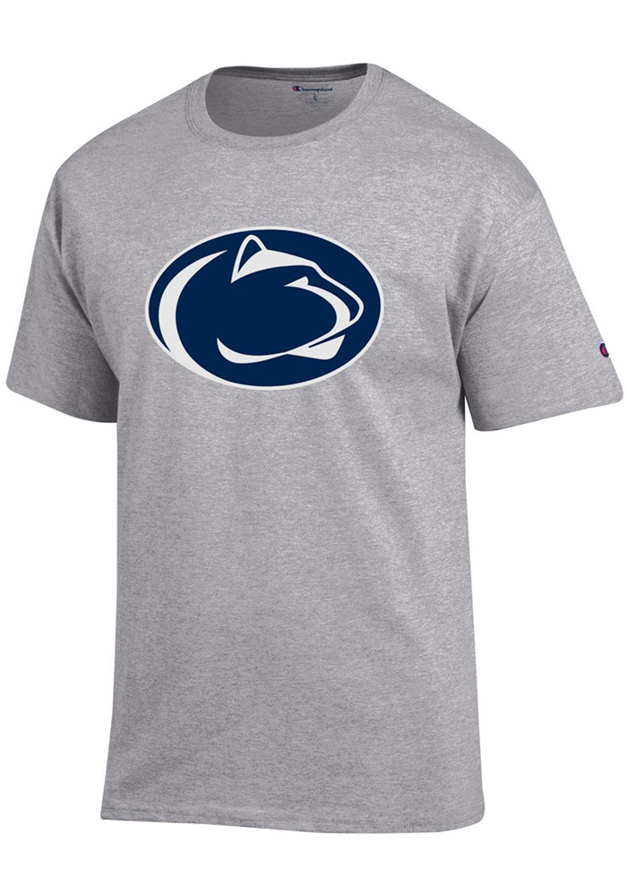 Champion Penn State Nittany Lions Grey Primary Logo Short Sleeve T Shirt - Image 1