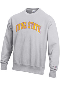 Iowa State Cyclones Champion Reverse Weave Crew Sweatshirt - Grey