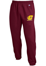 Central Michigan Chippewas Champion Closed Bottom Sweatpants - Maroon