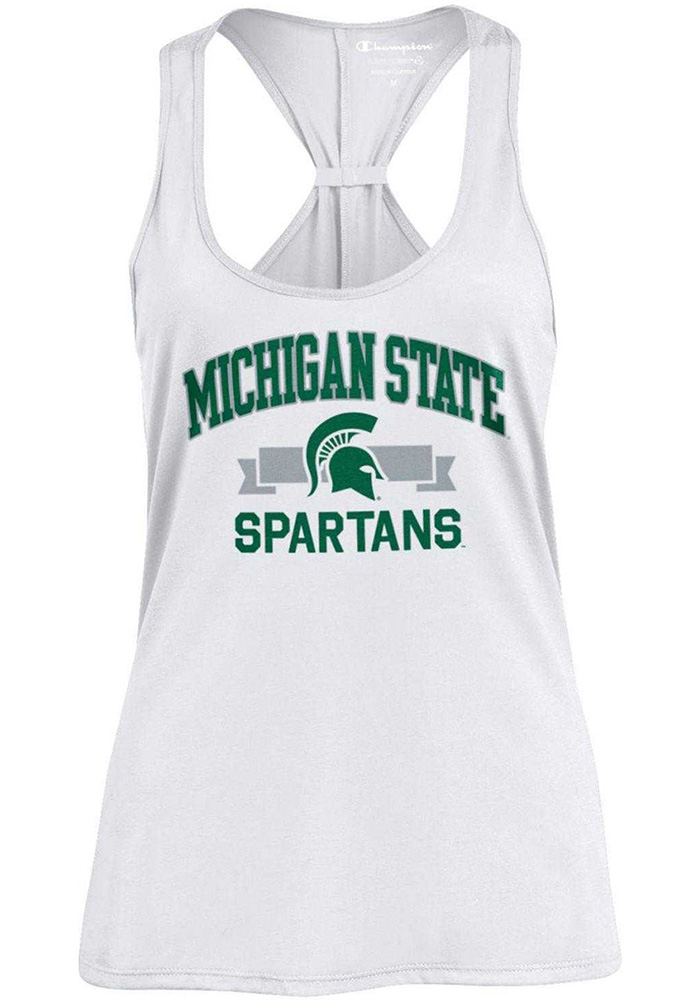 Champion Michigan State Spartans Womens White Swing Tank Top - Image 1