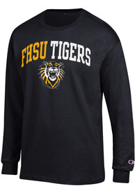 Champion Fort Hays State Tigers Black ARCH MASCOT Tee