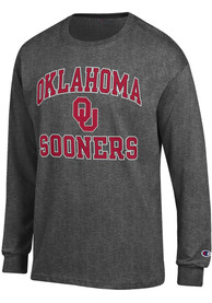 Oklahoma Sooners Champion Number One Design T Shirt - Charcoal