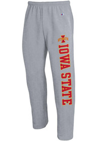 Iowa State Cyclones Champion Open Bottom Sweatpants - Grey