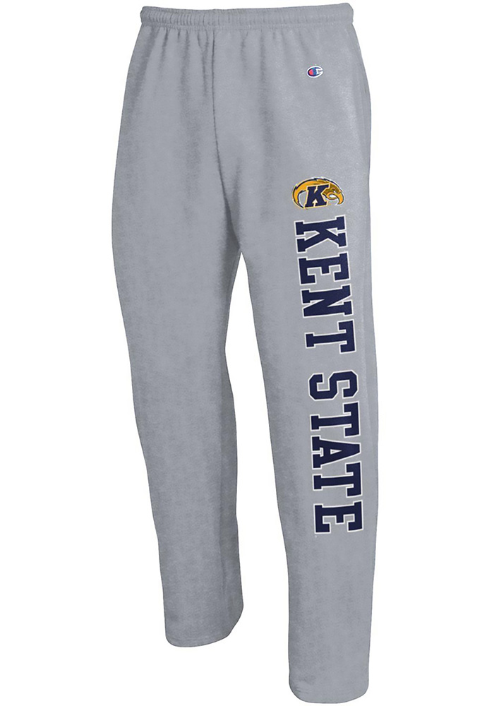 Champion Kent State Golden Flashes Mens Grey Open Bottom Sweatpants - Image 1