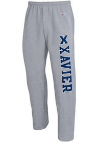 Xavier Musketeers Champion Open Bottom Sweatpants - Grey