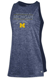 42c19d9fcd46e7 Champion Michigan Wolverines Womens Navy Blue Swing Tank Top - 14752226