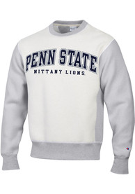 Penn State Nittany Lions Champion Reverse Out Crew Sweatshirt - Grey