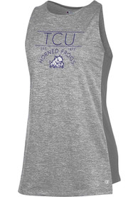 TCU Horned Frogs Womens Champion Marathon III Tank Top - Grey