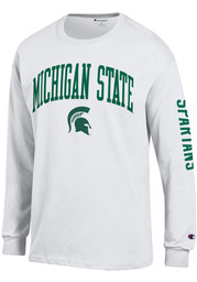 Champion Michigan State Spartans White Arch Mascot Long Sleeve T Shirt