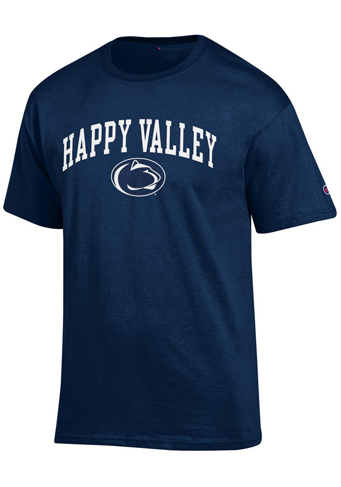 Champion Penn State Nittany Lions Navy Blue Happy Valley Short Sleeve T Shirt - Image 1