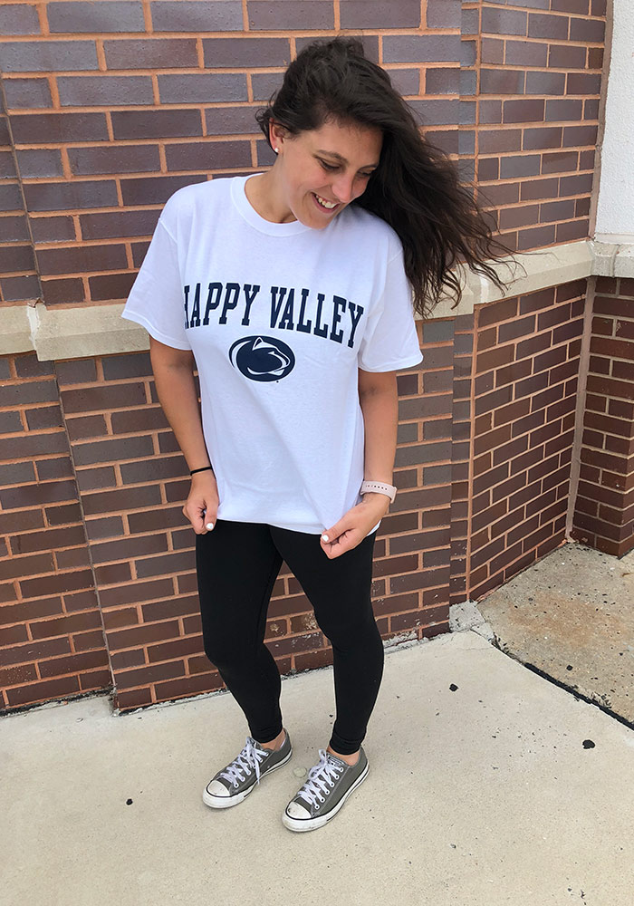 Champion Penn State Nittany Lions White Happy Valley Short Sleeve T Shirt - Image 2