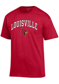 purchase cheap 5e27e f3f39 Champion Louisville Cardinals Red Mascot Tee