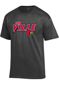 Louisville Cardinals Champion The Ville T Shirt - Charcoal