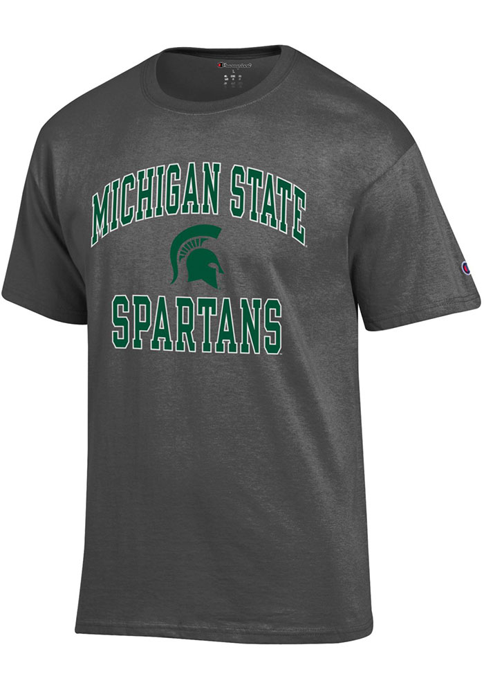 Champion Michigan State Spartans Grey Number One Short Sleeve T Shirt - Image 1