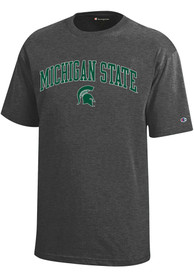 Champion Michigan State Spartans Charcoal Arch Mascot Tee