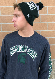 Champion Michigan State Spartans Charcoal Arch Mascot Long Sleeve T Shirt