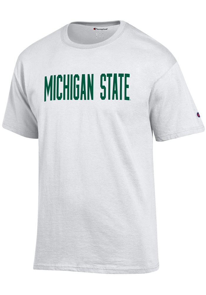 Champion Michigan State Spartans White Rally Loud Short Sleeve T Shirt - Image 1
