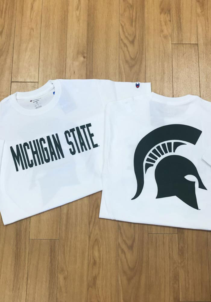 Champion Michigan State Spartans White Rally Loud Short Sleeve T Shirt - Image 3