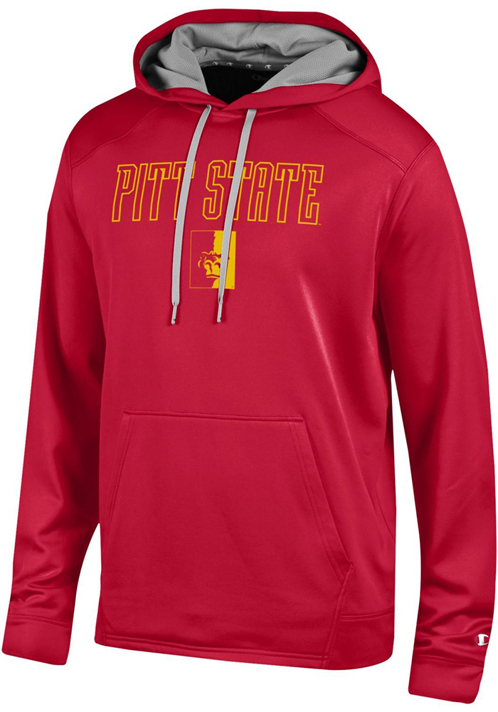 Champion Pitt State Gorillas Mens Red Athletic Fleece Hood - Image 1