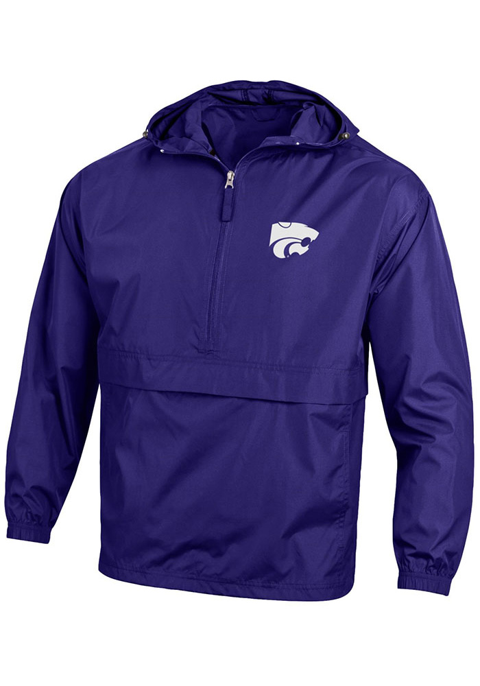 Champion K-State Wildcats Mens Purple Primary Logo Light Weight Jacket - Image 1