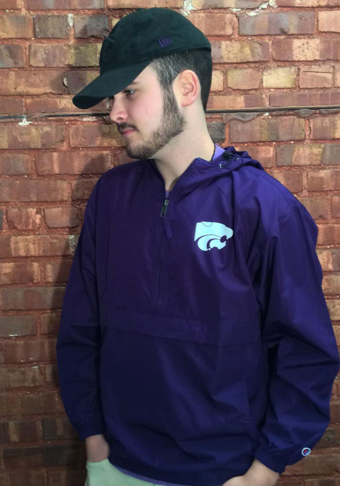 Champion K-State Wildcats Mens Purple Primary Logo Light Weight Jacket - Image 2