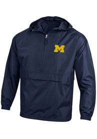 Michigan Wolverines Champion Primary Logo Light Weight Jacket - Navy Blue