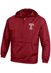 Champion Temple Owls Mens Red Primary Logo Light Weight Jacket