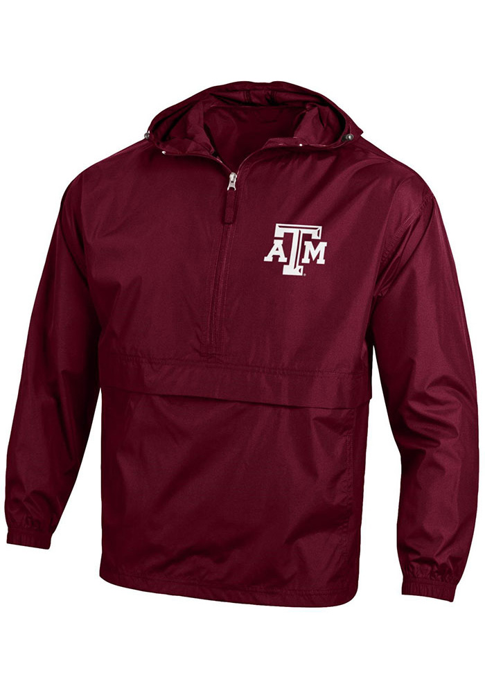 Champion Texas A&M Aggies Mens Maroon Primary Logo Light Weight Jacket - Image 1