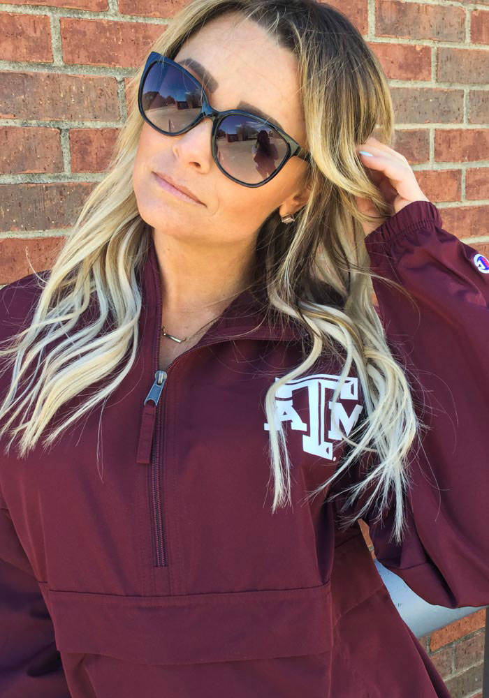Champion Texas A&M Aggies Mens Maroon Primary Logo Light Weight Jacket - Image 2