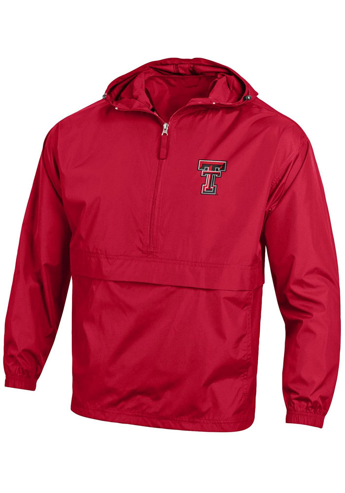 Champion Texas Tech Red Raiders Mens Red Primary Logo Light Weight Jacket - Image 1