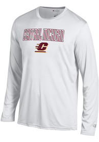 Champion Central Michigan Chippewas Grey Athletic Long Sleeve Tee Tee