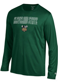 Champion Cleveland State Vikings Green Athletic Long Sleeve Tee Tee