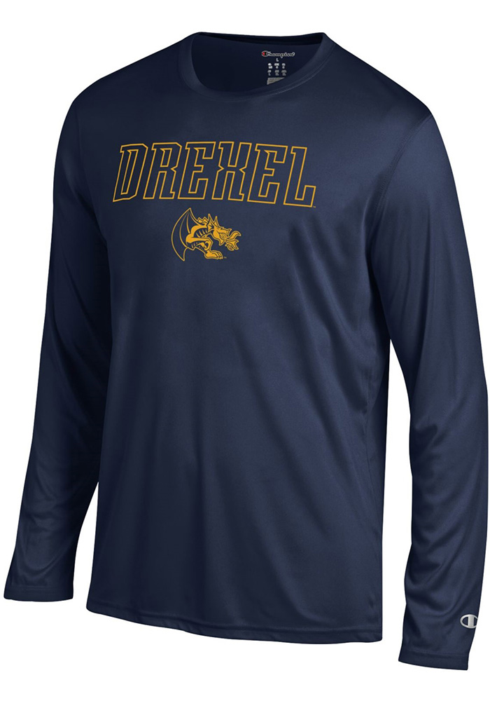Champion Drexel Dragons Navy Blue Athletic Long Sleeve Tee Long Sleeve T-Shirt - Image 1