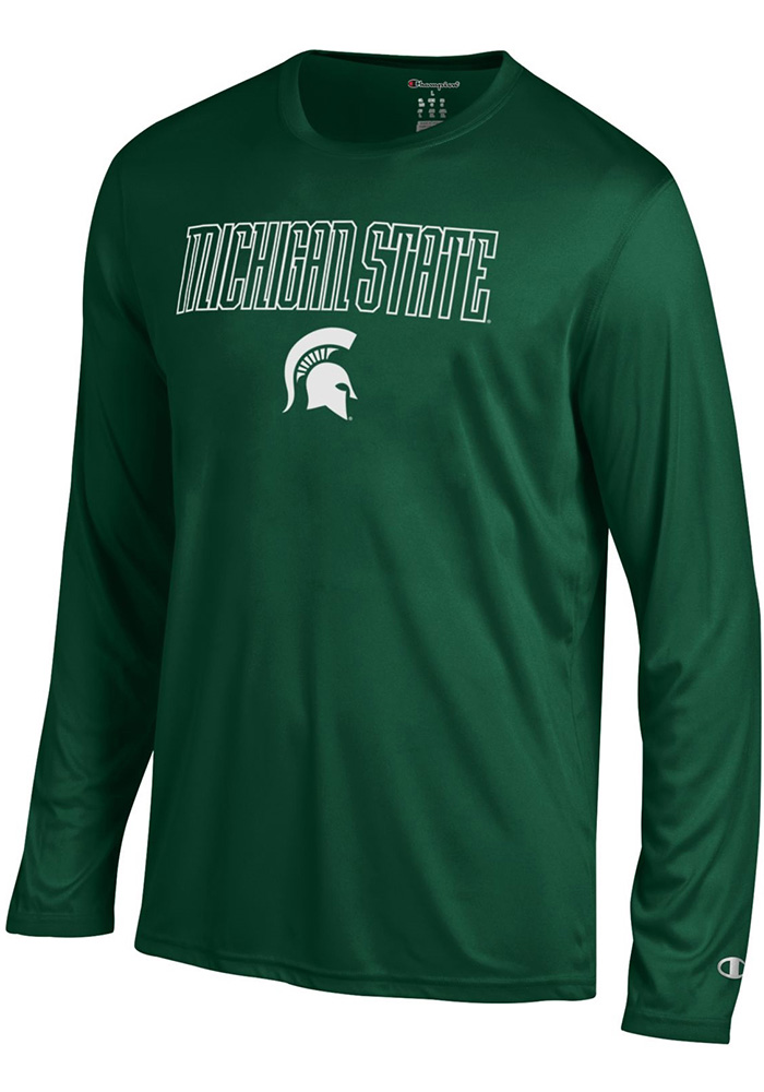 Champion Michigan State Spartans Green Athletic Long Sleeve Tee Long Sleeve T-Shirt - Image 1