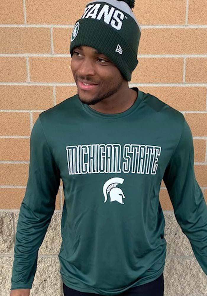 Champion Michigan State Spartans Green Athletic Long Sleeve Tee Long Sleeve T-Shirt - Image 2