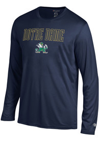 Champion Notre Dame Fighting Irish Navy Blue Athletic Long Sleeve Tee Tee