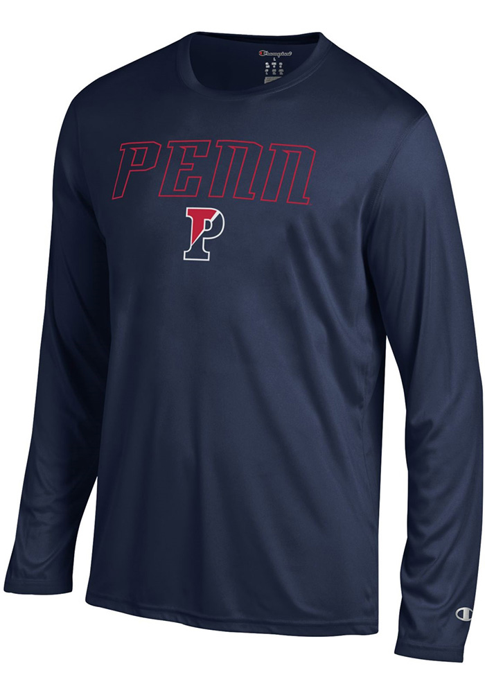 Champion Pennsylvania Quakers Navy Blue Athletic Long Sleeve Tee Long Sleeve T-Shirt - Image 1