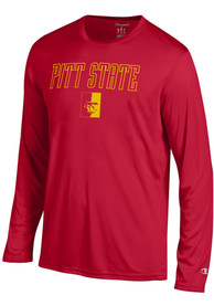 Champion Pitt State Gorillas Red Athletic Long Sleeve Tee Tee