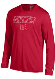 Champion Rutgers Scarlet Knights Red Athletic Long Sleeve Tee Tee