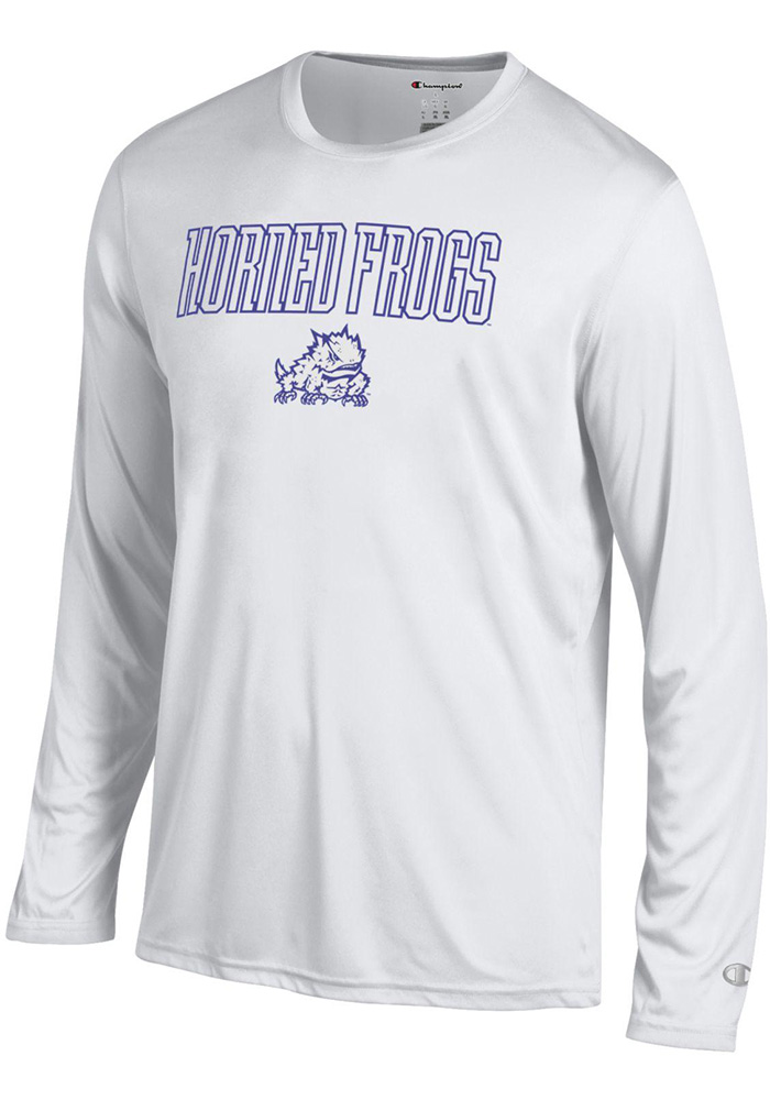 Champion TCU Horned Frogs Grey Athletic Long Sleeve Tee Long Sleeve T-Shirt - Image 1