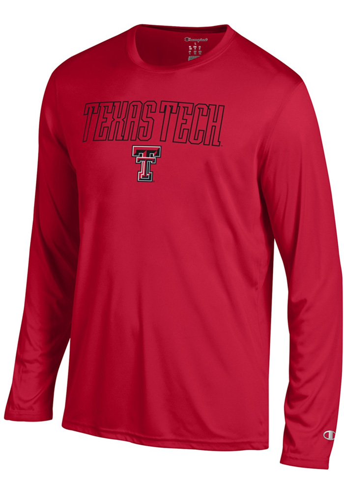 Champion Texas Tech Red Raiders Red Athletic Long Sleeve Tee Long Sleeve T-Shirt - Image 1