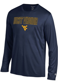 Champion West Virginia Mountaineers Navy Blue Athletic Long Sleeve Tee Tee