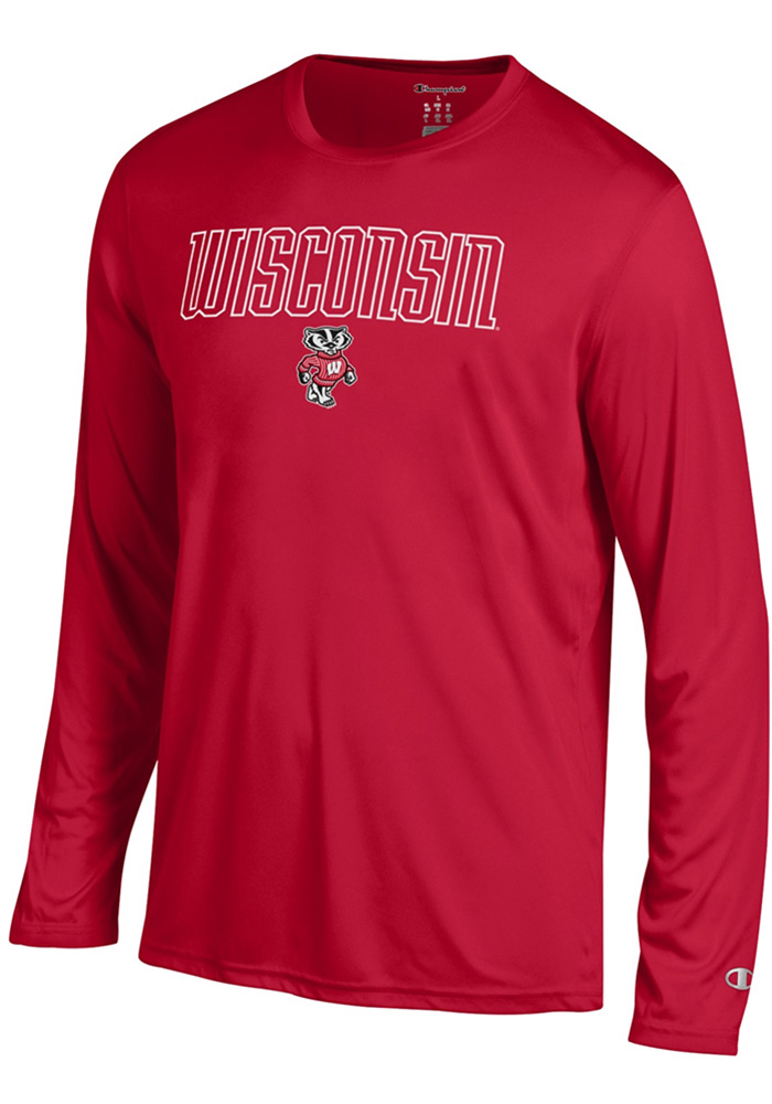 Champion Wisconsin Badgers Red Athletic Long Sleeve Tee Tee