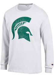 Champion Michigan State Spartans White Primary Logo Long Sleeve T Shirt