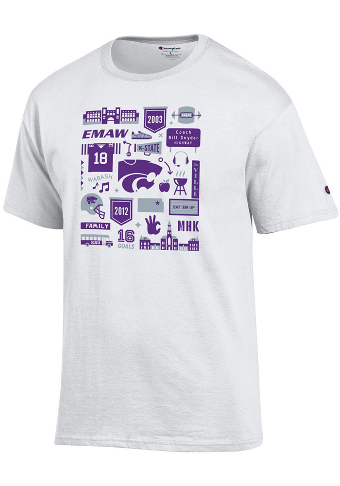 Champion K-State Wildcats White Official Fan Tee - Image 1