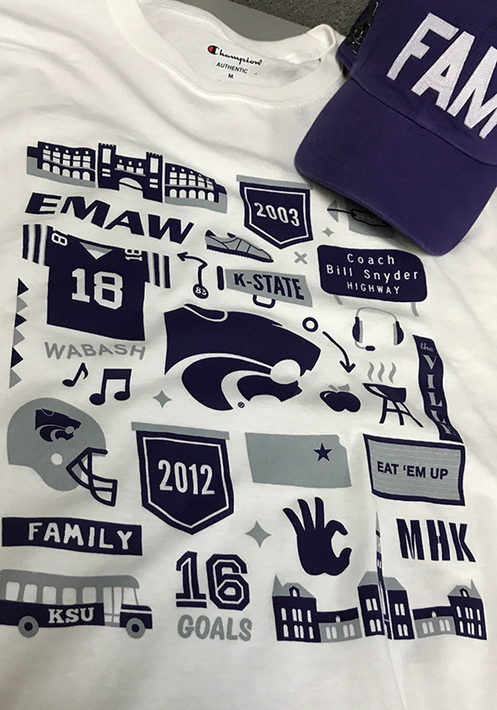 Champion K-State Wildcats White Official Fan Tee - Image 2